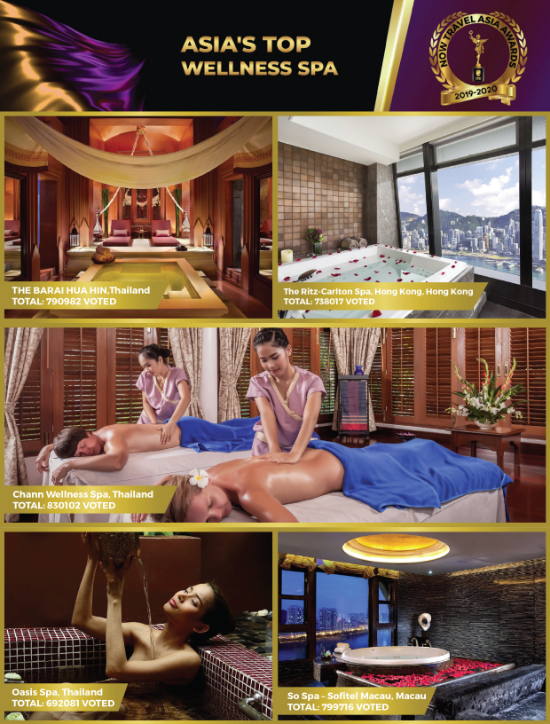 ASIA'S TOP WELLNESS SPA, NOW Travel Asia magazine, Chann Spa, NOW Travel Asia Awards